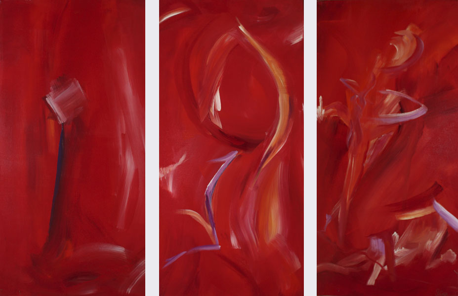 sabine schramm abstrakt rot bild acryl leinwand 120x80 ebay. Black Bedroom Furniture Sets. Home Design Ideas